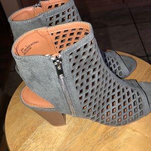 Grayish blue heels